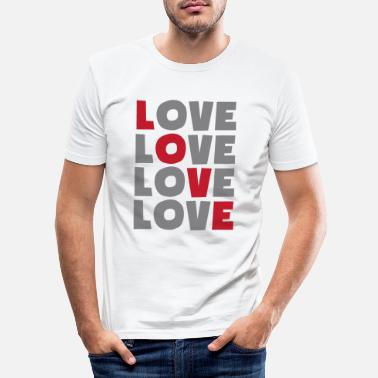 Lovely love love love love - Men's Slim Fit T-Shirt