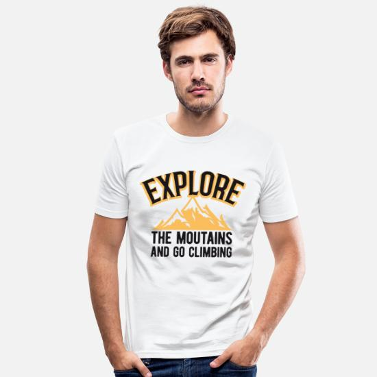 Love T-Shirts - Mountains mountaineering mountaineer mountains climbing - Men's Slim Fit T-Shirt white