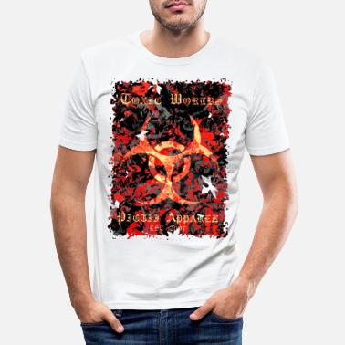 4d TOXIC WORLDS - 4D - Men's Slim Fit T-Shirt