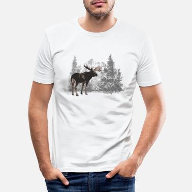 Moose Moose - Moose - Men's Slim Fit T-Shirt