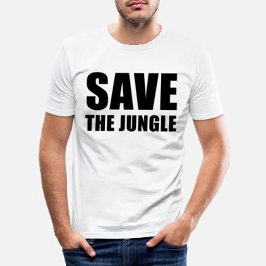 Save the jungle - Men's Slim Fit T-Shirt