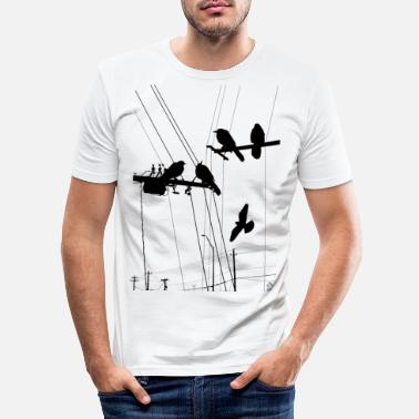 Hipster AD Birds - T-shirt slim fit herr