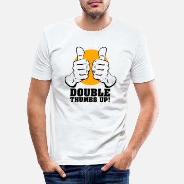 Thumbs Pointing At Me Daumen rauf - Männer Slim Fit T-Shirt