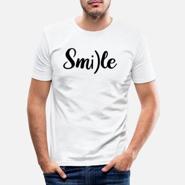 Trend SMILE #TREND #TOP #WOW # AMAZING - T-shirt moulant Homme