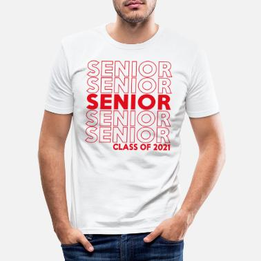 High School Graduate Class Of 2021 Senior Repeat Pattern - Men's Slim Fit T-Shirt