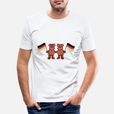 Match Internazionale Germania Germania Länder Germania Bandiera Teddy - Maglietta slim fit uomo