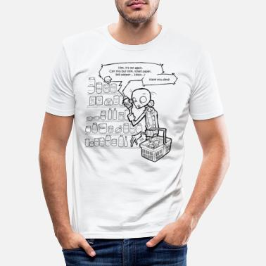 Comic Necromania; Shopping list - Men's Slim Fit T-Shirt