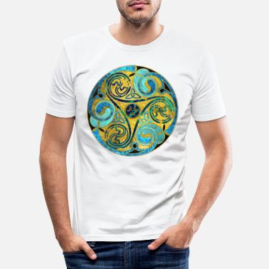 Celtic Decorative Triquetra Celtic Ornament - Men's Slim Fit T-Shirt
