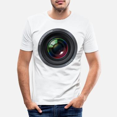Lens lens - Men's Slim Fit T-Shirt