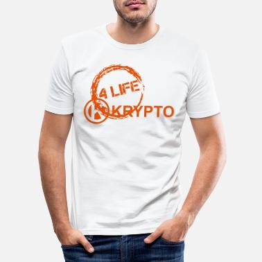 Krypto4Life - Männer Slim Fit T-Shirt