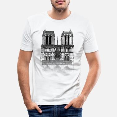 Parigi Around The World: Notre Dame - Parigi - Maglietta slim fit uomo