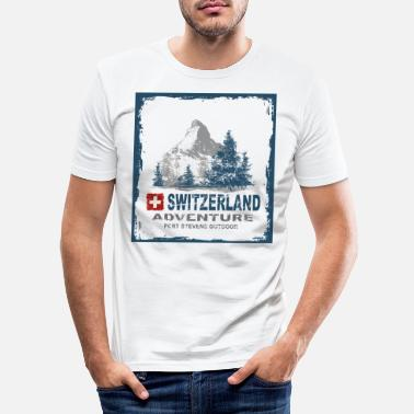 Switzerland Switzerland Switzerland - Men's Slim Fit T-Shirt