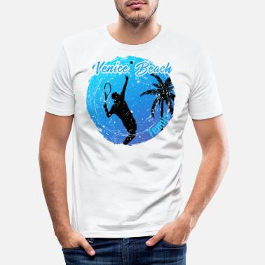 Kalifornien Vencie Beach Tennis - Männer Slim Fit T-Shirt