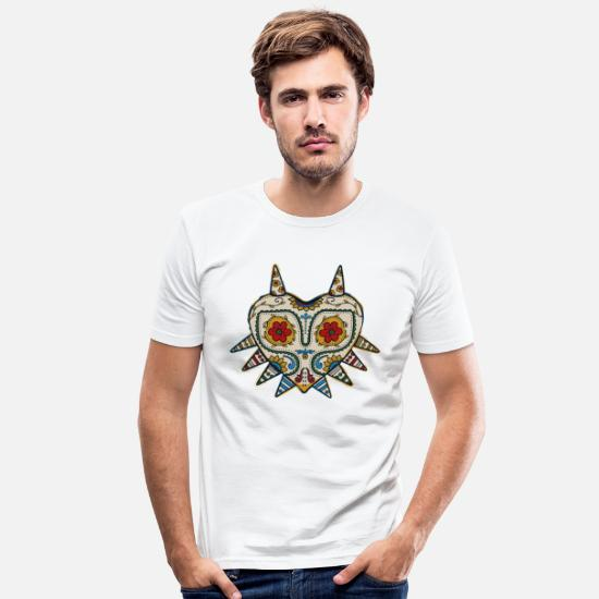 Gaming T-shirts - majoras mask - Mannen slim fit T-shirt wit
