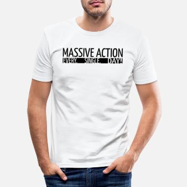 Action MASSIVA ÅTGÄRDER - Motivation - Presentidé - T-shirt slim fit herr