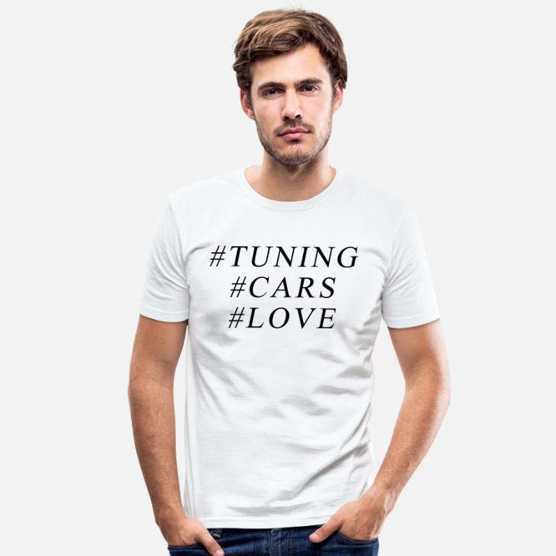 Love T-Shirts - #Tuning - Men's Slim Fit T-Shirt white