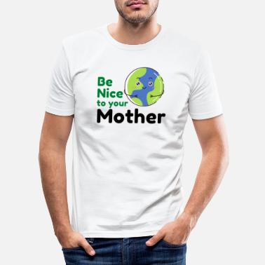 Eco Climate change earth co2 sea environment eco gift - Men's Slim Fit T-Shirt