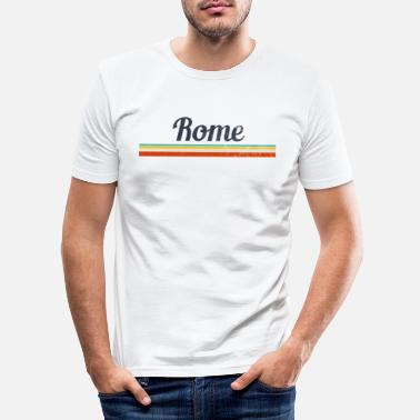 Italy Vintage Rome Italy - Men's Slim Fit T-Shirt
