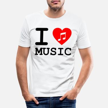 Vinyl I love music v3 - Men's Slim Fit T-Shirt