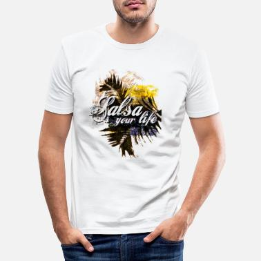 Kuba salsa - Männer Slim Fit T-Shirt