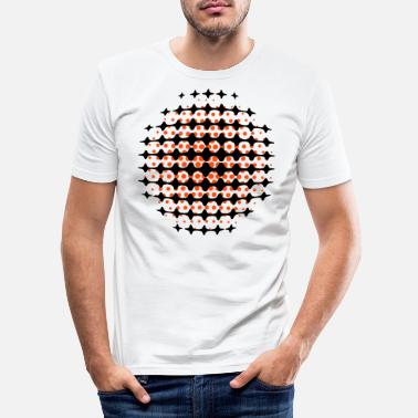 Funky FUNKY DISCO SPACE SUPERNOVA (UK) - MOIRE PATTERNS - Men's Slim Fit T-Shirt