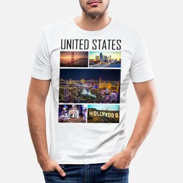 États-unis États-Unis - États-Unis - T-shirt moulant Homme