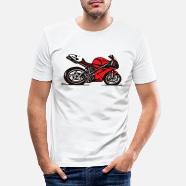 Desmo Superbike comic-style - Men's Slim Fit T-Shirt