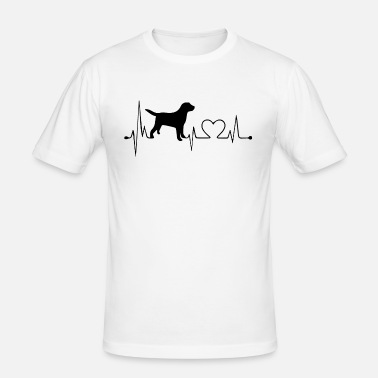 Dog Heartbeat Heart Love Heart Line T Mens Premium T Shirt
