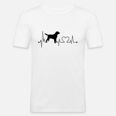 Dog Heartbeat Heart Love Heart Line T Mens Premium T Shirt
