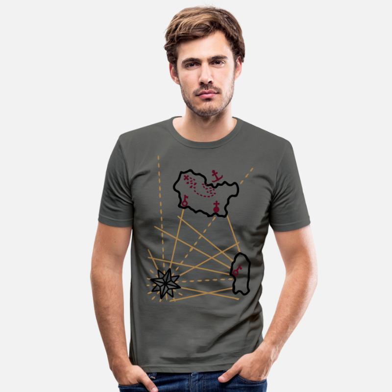 Treasure forankring 3 Color Vector Slim fit T skjorte