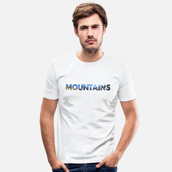 Mountains T-Shirts - MOUNTAINS MOUNTAINS - MOUNTAIN MOUNTAIN - Men's Slim Fit T-Shirt white