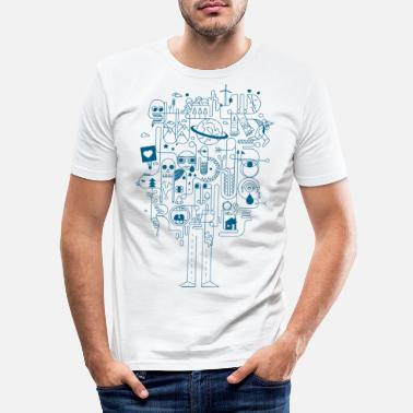 Coole Creative - Männer Slim Fit T-Shirt