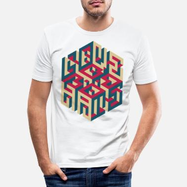 Hate Leibe LOVE/HATE - Männer Slim Fit T-Shirt