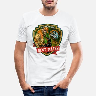Jäger best mates - Männer Slim Fit T-Shirt