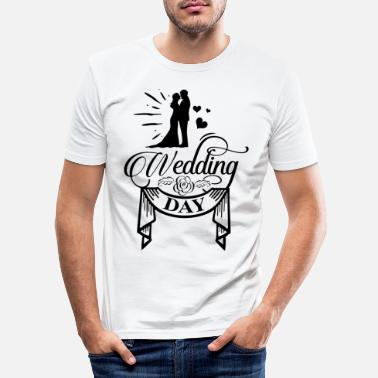 Trouwdag Trouwdag - Mannen slim fit T-shirt