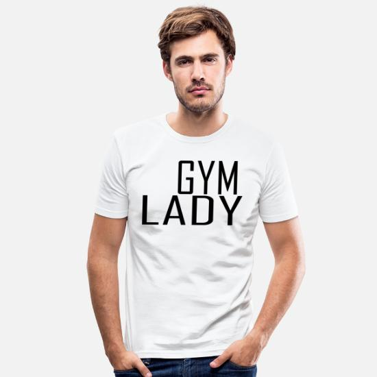 Love T-Shirts - Gym lady - Men's Slim Fit T-Shirt white