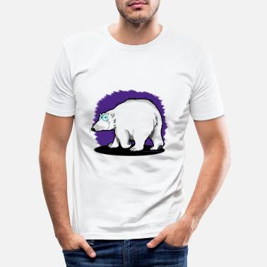 Enzocomics Tier-Shirt Eisbär - Männer Slim Fit T-Shirt