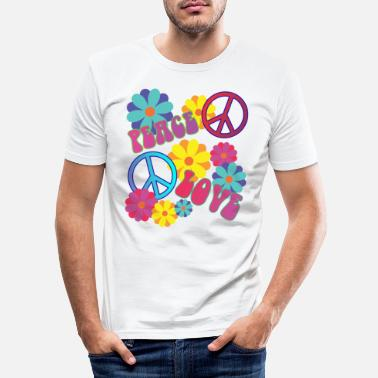 Hippie elsker fred hippie flower power - Slim fit T-shirt mænd