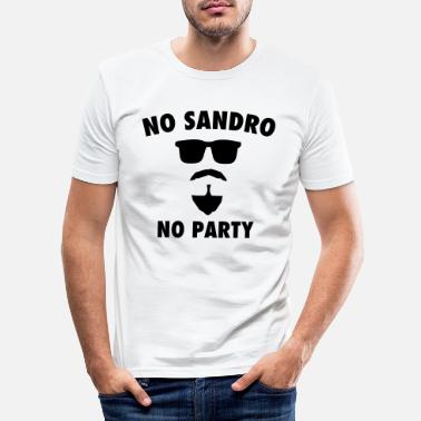 Party NO SANDRO NO PARTY - Männer Slim Fit T-Shirt