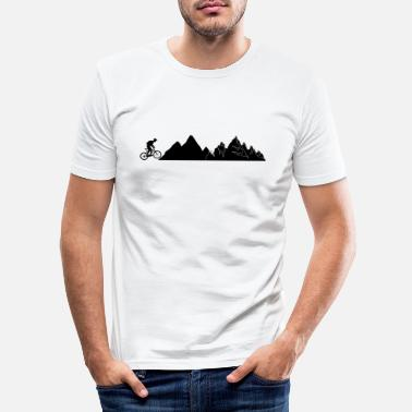Bike Mountain Bike Mountains Bike - Men's Slim Fit T-Shirt