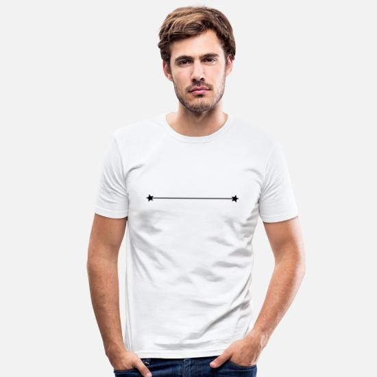 Waves T-Shirts - Line in black - Men's Slim Fit T-Shirt white