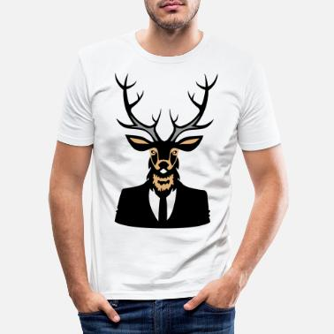 Stag Do deer head - Men's Slim Fit T-Shirt