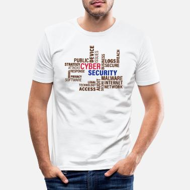 Cyber Cyber Security - Men's Slim Fit T-Shirt