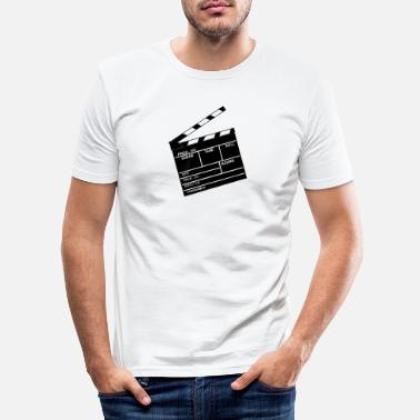 Date Clapperboard - Men's Slim Fit T-Shirt