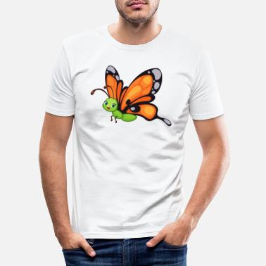 Bird Schmetterling Butterfly Zoo Safari - Männer Slim Fit T-Shirt