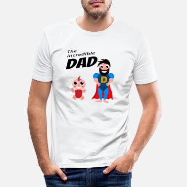Daughter The Incredible Dad Daughter Birthday Gift - Men's Slim Fit T-Shirt
