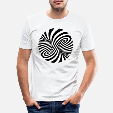 3d Optical illusion pattern shapes geometry gift - Men's Slim Fit T-Shirt