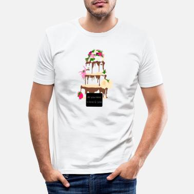 wedding cake - Men's Slim Fit T-Shirt