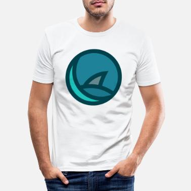 Minimal Shark Fin Badge - Slim fit T-shirt mænd