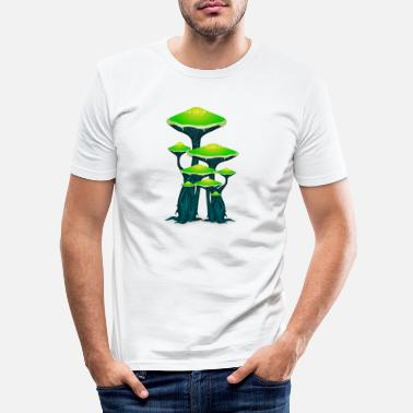 Ticker Setas mágicas Setas Ticker Psytrance Goa Techno - Camiseta ajustada hombre
